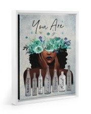 You Are Amazing Floating Framed Canvas Prints White tile