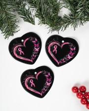 I'm A Survivor Breast Cancer Awareness Heart ornament - 3 pieces (porcelain) aos-heart-ornament-3-pieces-porcelain-lifestyles-01
