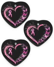 I'm A Survivor Breast Cancer Awareness Heart ornament - 3 pieces (porcelain) front