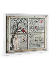 A Big Piece Of My Heart Lives In Heaven Floating Framed Canvas Prints White tile