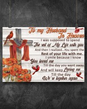 Memorial Gift Cardinal To My Husband In Heaven 36x24 Poster aos-poster-landscape-36x24-lifestyle-11