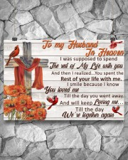 Memorial Gift Cardinal To My Husband In Heaven 36x24 Poster aos-poster-landscape-36x24-lifestyle-12