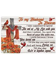 Memorial Gift Cardinal To My Husband In Heaven 36x24 Poster front