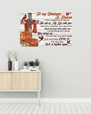 Memorial Gift Cardinal To My Husband In Heaven 36x24 Poster poster-landscape-36x24-lifestyle-01