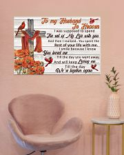 Memorial Gift Cardinal To My Husband In Heaven 36x24 Poster poster-landscape-36x24-lifestyle-19