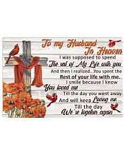 To My Husband In Heaven Horizontal Poster tile