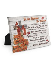 To My Husband In Heaven Easel-Back Gallery Wrapped Canvas tile