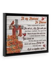 To My Husband In Heaven Floating Framed Canvas Prints Black tile