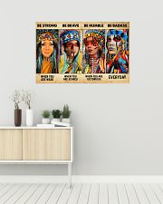 Be Strong When Weak Be Brave When Scared Be Humble 36x24 Poster poster-landscape-36x24-lifestyle-01