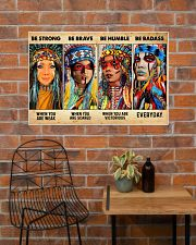Be Strong When Weak Be Brave When Scared Be Humble 36x24 Poster poster-landscape-36x24-lifestyle-20