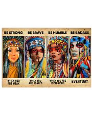Be Strong When Weak Be Brave When Scared Be Humble Horizontal Poster tile