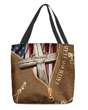 God Believer Gift Faith Over Fear All-over Tote front