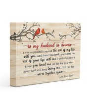 To My Husband In Heaven 14x11 Gallery Wrapped Canvas Prints thumbnail