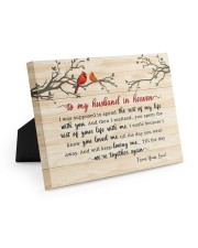 To My Husband In Heaven 10x8 Easel-Back Gallery Wrapped Canvas thumbnail