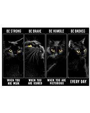 Black Cats Be Strong Be Humble 36x24 Poster front