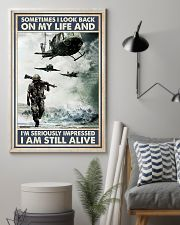 Sometimes I Look Back On My Life I Am Still Alive 11x17 Poster lifestyle-poster-1