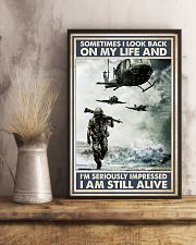 Sometimes I Look Back On My Life I Am Still Alive 11x17 Poster lifestyle-poster-3