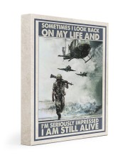 Sometimes I Look Back On My Life I Am Still Alive 11x14 Gallery Wrapped Canvas Prints thumbnail