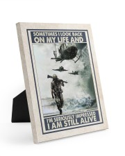 Sometimes I Look Back On My Life I Am Still Alive 8x10 Easel-Back Gallery Wrapped Canvas thumbnail