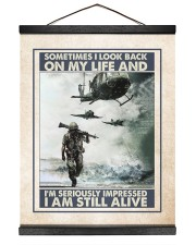 Sometimes I Look Back On My Life I Am Still Alive 16x20 Black Hanging Canvas thumbnail