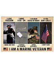 I Love Freedom I Am Marine Veteran 36x24 Poster front