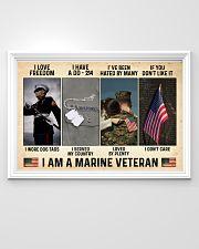 I Love Freedom I Am Marine Veteran 36x24 Poster poster-landscape-36x24-lifestyle-02