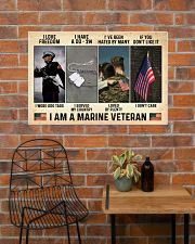 I Love Freedom I Am Marine Veteran 36x24 Poster poster-landscape-36x24-lifestyle-20