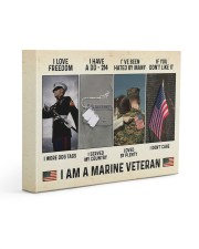 I Love Freedom I Am Marine Veteran 14x11 Gallery Wrapped Canvas Prints thumbnail