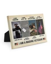 I Love Freedom I Am Marine Veteran 10x8 Easel-Back Gallery Wrapped Canvas thumbnail