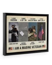 I Love Freedom I Am Marine Veteran 14x11 Black Floating Framed Canvas Prints thumbnail