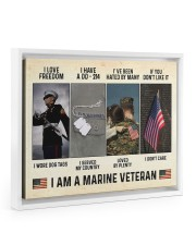 I Love Freedom I Am Marine Veteran 14x11 White Floating Framed Canvas Prints thumbnail