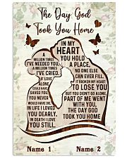 The Day God Took You Home  11x17 Poster front