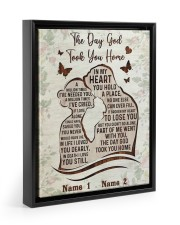 The Day God Took You Home  11x14 Black Floating Framed Canvas Prints thumbnail