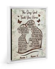 The Day God Took You Home  11x14 White Floating Framed Canvas Prints thumbnail