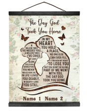The Day God Took You Home  16x20 Black Hanging Canvas thumbnail