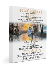 To My Husband Never Forget That I Love You Gallery Wrapped Canvas Prints tile