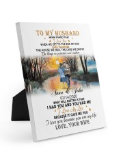 To My Husband Never Forget That I Love You Easel-Back Gallery Wrapped Canvas tile