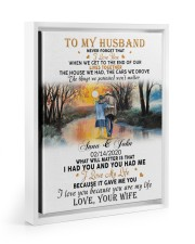 To My Husband Never Forget That I Love You Floating Framed Canvas Prints White tile