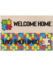 """Welcome Home Come Home Safe Doormat 34"""" x 23"""" front"""