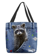 Raccoon In The Bag All-over Tote back