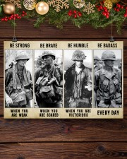 Vietnam Veteran Be Strong Be Brave Be Humble 17x11 Poster aos-poster-landscape-17x11-lifestyle-27