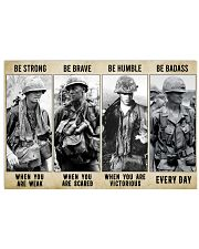 Vietnam Veteran Be Strong Be Brave Be Humble 17x11 Poster front