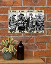 Vietnam Veteran Be Strong Be Brave Be Humble 17x11 Poster poster-landscape-17x11-lifestyle-23