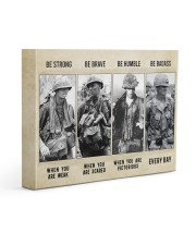 Vietnam Veteran Be Strong Be Brave Be Humble 14x11 Gallery Wrapped Canvas Prints thumbnail