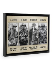 Vietnam Veteran Be Strong Be Brave Be Humble 14x11 Black Floating Framed Canvas Prints thumbnail