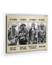 Vietnam Veteran Be Strong Be Brave Be Humble 14x11 White Floating Framed Canvas Prints thumbnail