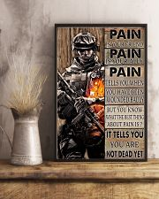 Gift For Veteran Pain Is Your Friend Is Your Ally It Tells You You Are Not Dead 11x17 Poster lifestyle-poster-3