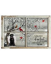 A Big Piece Of My Heart Lives In Heaven Black Lab 36x24 Poster front