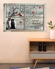 A Big Piece Of My Heart Lives In Heaven Black Lab 36x24 Poster poster-landscape-36x24-lifestyle-22