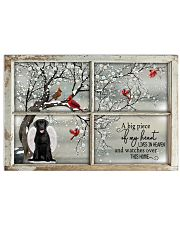 A Big Piece Of My Heart Lives In Heaven Black Lab Horizontal Poster tile